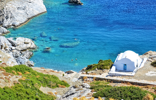 Agia Anna Amorgos Cyclades Greece