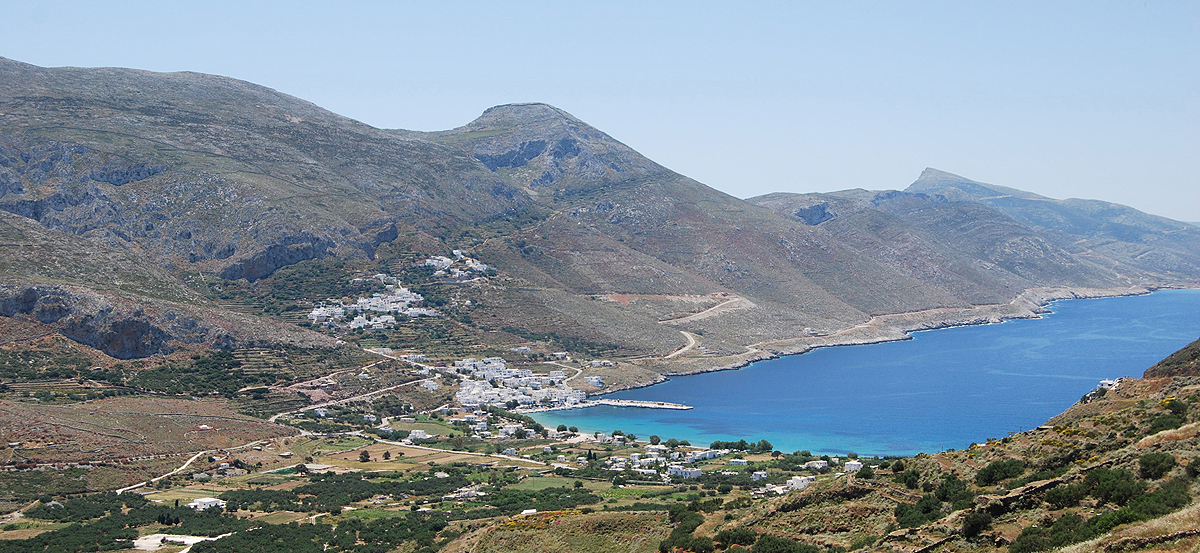 The Bay of Aegiali Amorgos